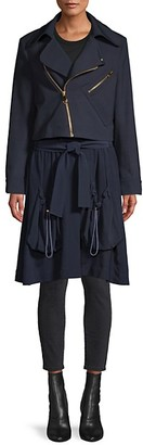 Chloé Zip-Front Wool-Blend Parka Coat