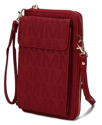 MKF Collection by Mia K. Women's Crossbodies Red - Red Logo Caddy Phone Crossbody Bag