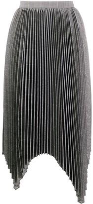 Juun.J Check-Print Pleated Skirt