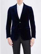 Salvatore Ferragamo Slim-fit velvet jacket