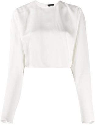 Magda Butrym Silk Cropped Blouse