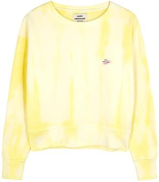 Mads Norgaard Tilvina yellow tie-dyed cotton sweatshirt