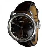 Hermes Brown Steel Watch Arceau