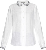 JUPE BY JACKIE Nellie embroidery-trimmed linen shirt