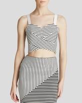 Rebecca Minkoff Top - Striped Cielo Bustier
