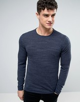 Esprit Sweater In Navy Slub