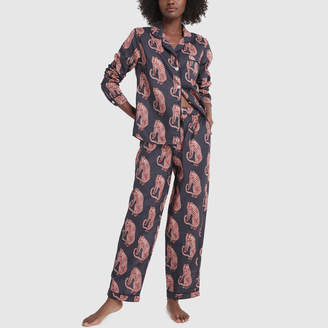 Desmond & Dempsey Long Printed Pajama Set