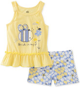 Kids Headquarters 2-Pc. Bee Cute Top and Shorts Set, Baby Girls (0-24 months)