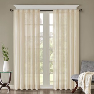 Madison Home USA 2-pack Kaylee Solid Crushed Window Curtains
