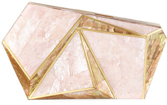 Rafe Azura Asymmetric Shell Minaudiere Clutch Bag