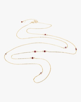 Yi Collection Long Ruby Necklace