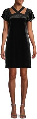 CeCe Flutter-Sleeve Cutout Mini Dress