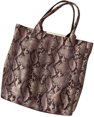 BCBGMAXAZRIA Brown Lizard Handbags