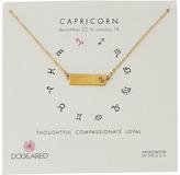 Dogeared Capricorn Zodiac Bar Necklace
