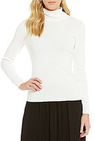 Jones New York Long Sleeve Turtleneck Sweater Knit Top