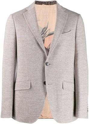 Etro classic plaid single-breasted blazer