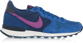 Nike Internationalist suede, leather and mesh sneakers