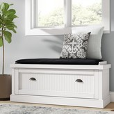 Beachcrest Home Rabin Wood Storage Bench Color: Off-White