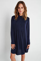 BCBGeneration Pintucked Collared Shirt - Navy