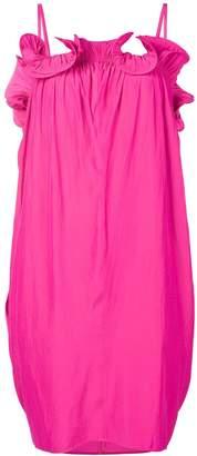 Lanvin petal-shaped ruffle dress