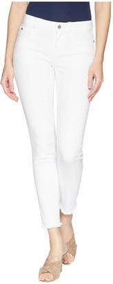 Vince Camuto Women's Frayed Hem White Five Pocket Jean