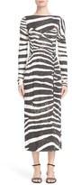 Marc Jacobs Women's Zebra Print Jersey Dress