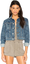 Hudson Garrison Cropped Denim Jacket