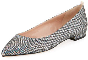 Sarah Jessica Parker Story Point-Toe Glitter Ballet Flats