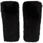 Yves Salomon Black Cashmere & Fur Mittens