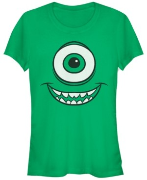 Fifth Sun Disney Pixar Women's Monsters Inc. Mike Wazowski Eye Short Sleeve Tee Shirt