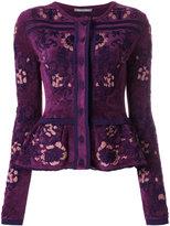 Alberta Ferretti fantasy print peplum cardigan - women - Polyamide/Rayon - 40