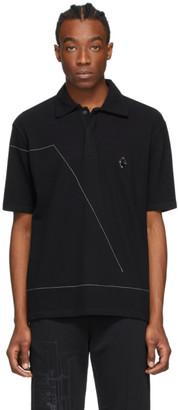 A-Cold-Wall* Black Rhombus Badge Polo