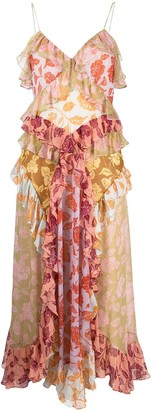 Zimmermann Ruffled Floral-Print Dress