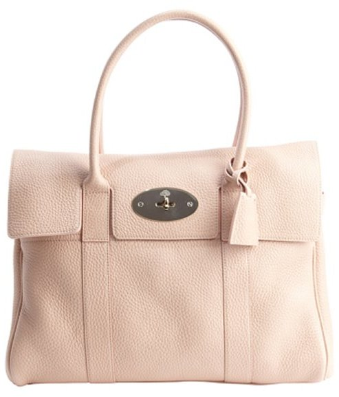 Mulberry pink pebbled leather 'Bayswater' bag