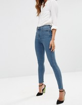 Asos Ridley High Waist Skinny Jeans in Jo Jo Pretty Mid Blue