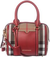 Burberry Women's Small House Check Sartorial Bowling Bag
