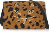 Charlotte Olympia Feline Leopard-print Calf Hair Shoulder Bag