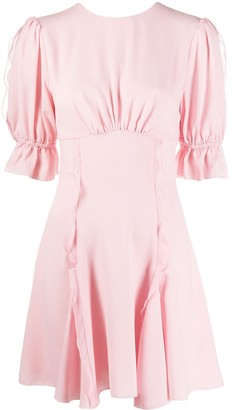Keepsake Ruched Ruffle Detail Dress