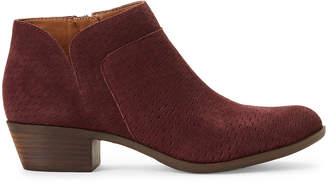 Lucky Brand Raisin Brintly Suede Ankle Booties