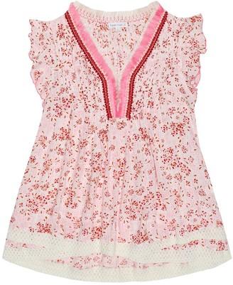 Poupette St Barth Kids Sasha floral lace-trimmed dress