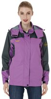Wantdo Women's Windproof Travel Running Raincoat With Hood Jacket(US S)