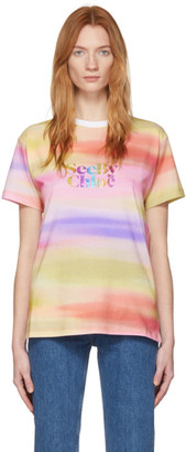 See by Chloe Multicolor Rainbow Logo T-Shirt