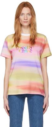 See by Chloe Multicolor Rainbow Logo T-Shirt