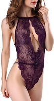 OnlyFuns Sexy Lingerie for Women Teddy One Piece Lace Babydoll Bodysuit S
