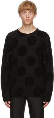 Comme des Garcons Black Worsted Yarn Intarsia Sweater