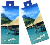NEW MyBagTag Overwater Bungalow Luggage Tag Set 2pce