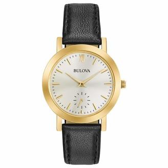 Bulova Women's Stainless Steel Analog-Quartz Watch with Leather Strap