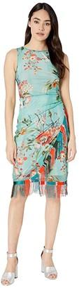 Fuzzi Bouquet Sleeveless Fringe Dress (Pastello) Women's Dress