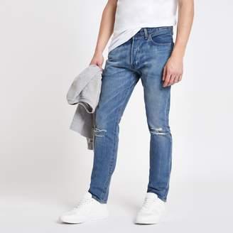 Levi's Mens River Island light Blue 501 skinny jeans