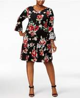 Connected Plus Size Ruffled Drop-Waist Dress
